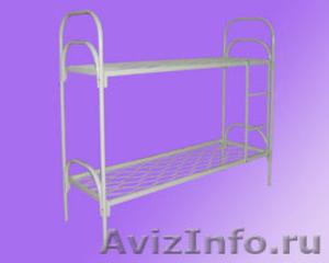 кровати двухъярусные и одноярусные металлические для рабочих и турбаз - Изображение #2, Объявление #689406