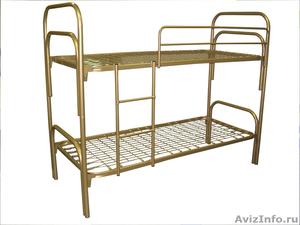 Кровати металлические для казарм, кровати трёхъярусные для рабочих. оптом. - Изображение #2, Объявление #1479548