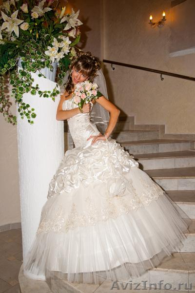 Продам красивое свадебное платье цвета брызги шампанского в Самаре, продам, куплю, одежда в Самаре - 384414, samara.avizinfo.ru