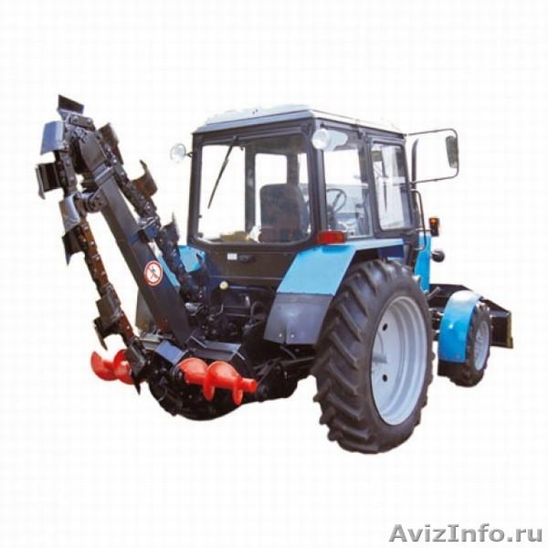 Трактор мтз 82.1 бара, траншеекопатель, грунторез